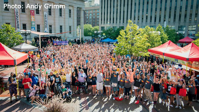 Fourth Annual Rally 4 Recovery brings together thousands of people in downtown Dayton on Sunday, August 27, 2017. (WKEF/WRGT) Photo: Andy Grimm