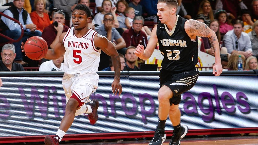 Winthrop's Keon Johnson is second in the Big South with 21.8 points per game. (Photo courtesy Winthrop Athletics)