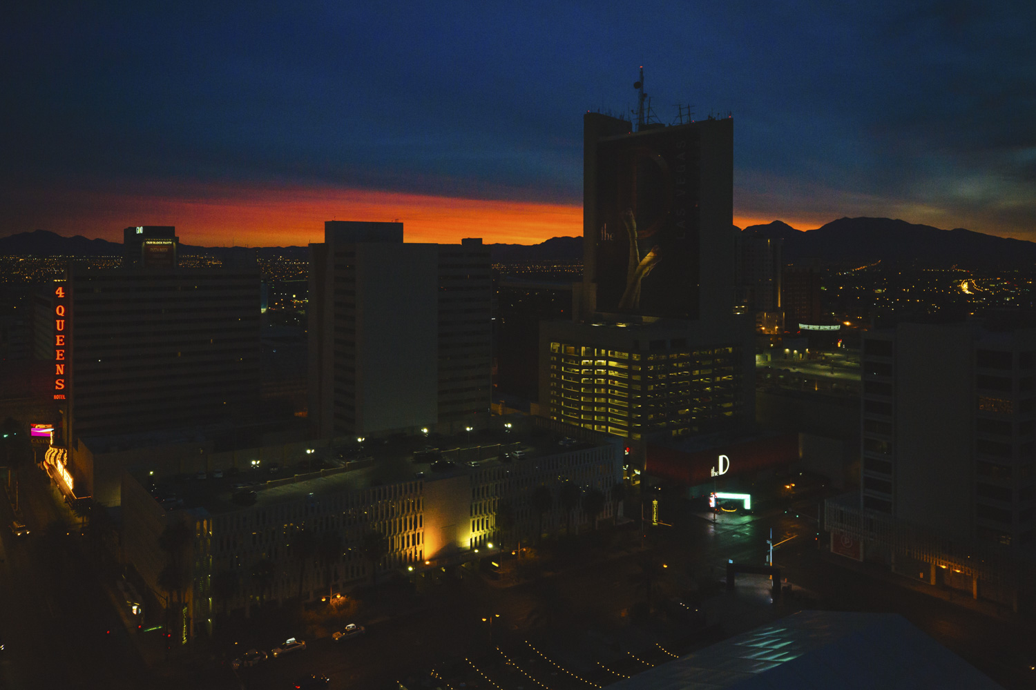 "Watch the sun rise from the Golden Nugget Hotel. Las Vegas may be best known for its sinful side but there's more to this modern metropolis than losing your shirt. Not the gambling type? A tour of the city's faded relics at The Neon Museum is great for both history buffs and Instagramming your heart out. Get same-day discount tickets to check out one (or more) of Cirque Du Soleil's seven different local shows for a masterful performance. Vegas is a hotbed of buzz-worthy eateries that don't involve buffets, so do your tummy a favor try the melt-in-your-mouth pork belly buns at Momofuku and don't even think about leaving before digging into the neighboring Milk Bar's cereal milk ice cream with cornflake crunch. It really does taste just like the milk at the bottom of a bowl of cornflakes! And while you can no longer catch Britney Spears like us, there are countless headlining musical acts in town that redefine the term ""production."" From Flying high down the Fremont Street zip-line to pretending you're in the movies in front of the Bellagio fountains, don't miss out on all Las Vegas has to offer just outside the casinos. (Image: Sunita Martini)"