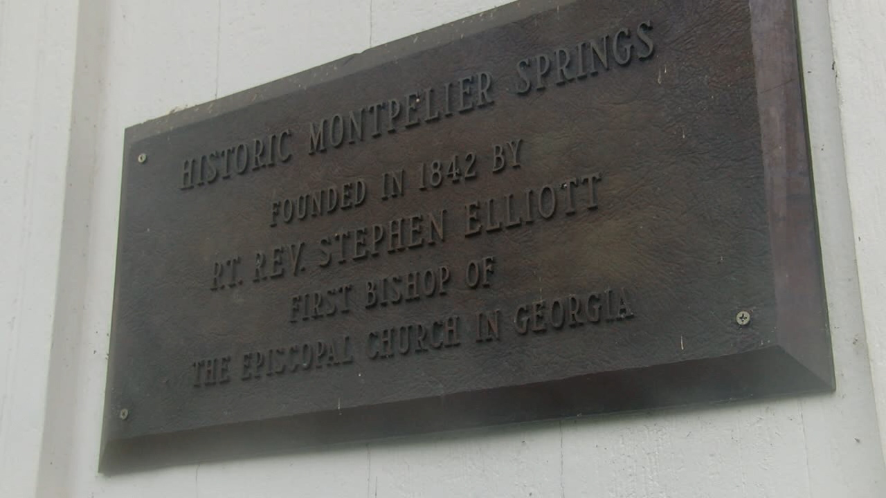 Plaque commemorating Montpelier Springs