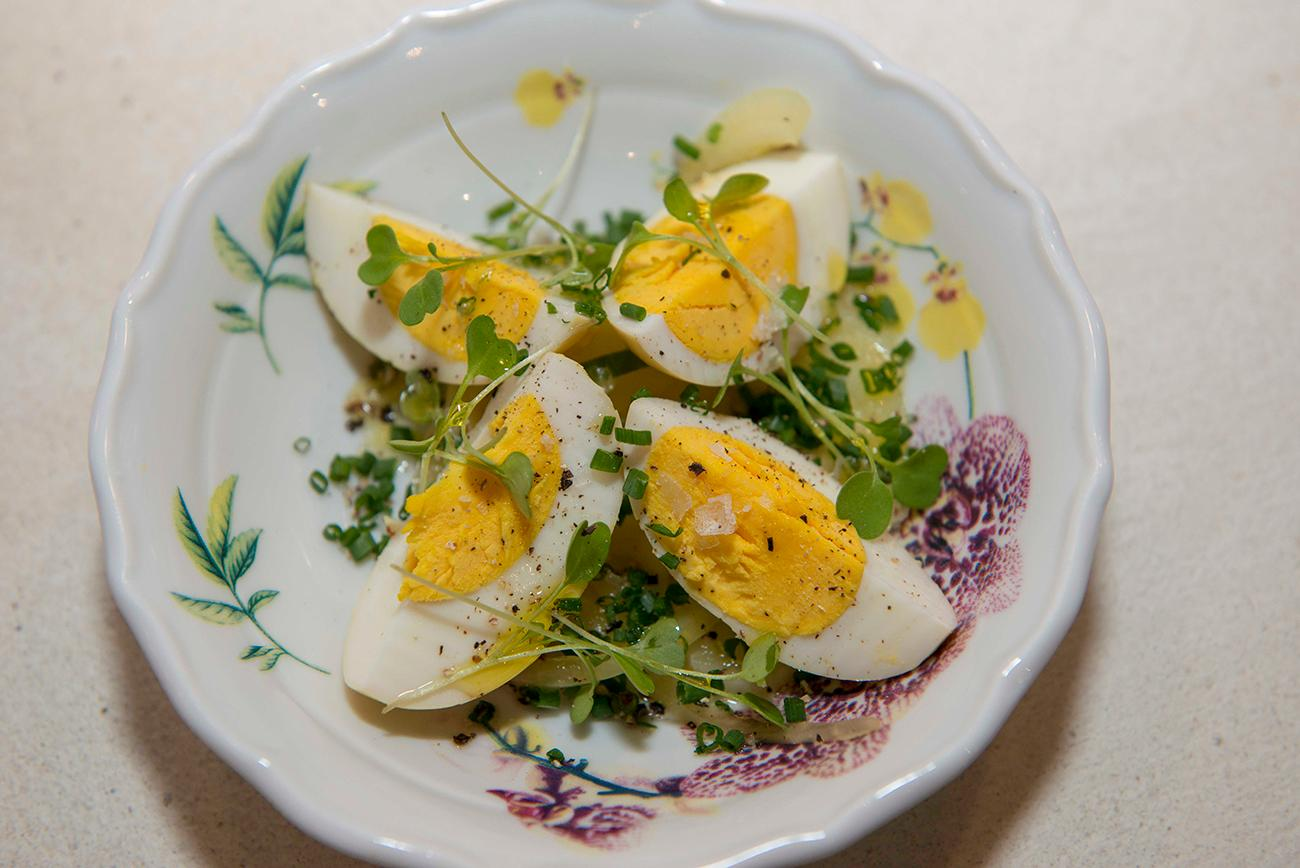 Mustard pickled eggs{ }/ Image: Joe Simon // Published: 1.9.19{ }