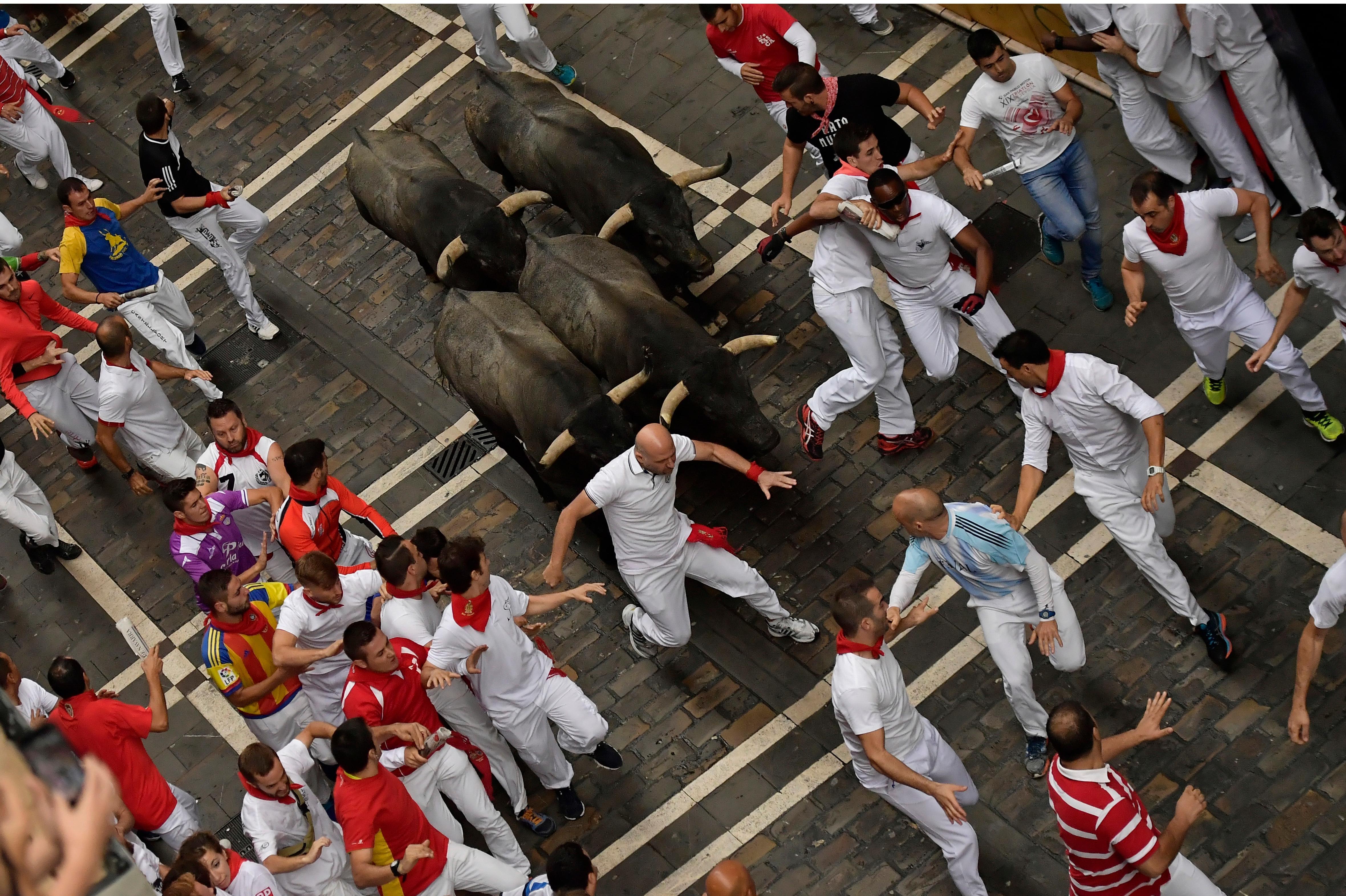 2 americans gored in pamplona u0026 39 s second bull run of 2017