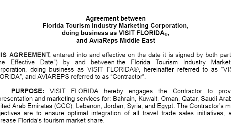 Agency Agreements Travel And Tourism  The Best Agreement Of