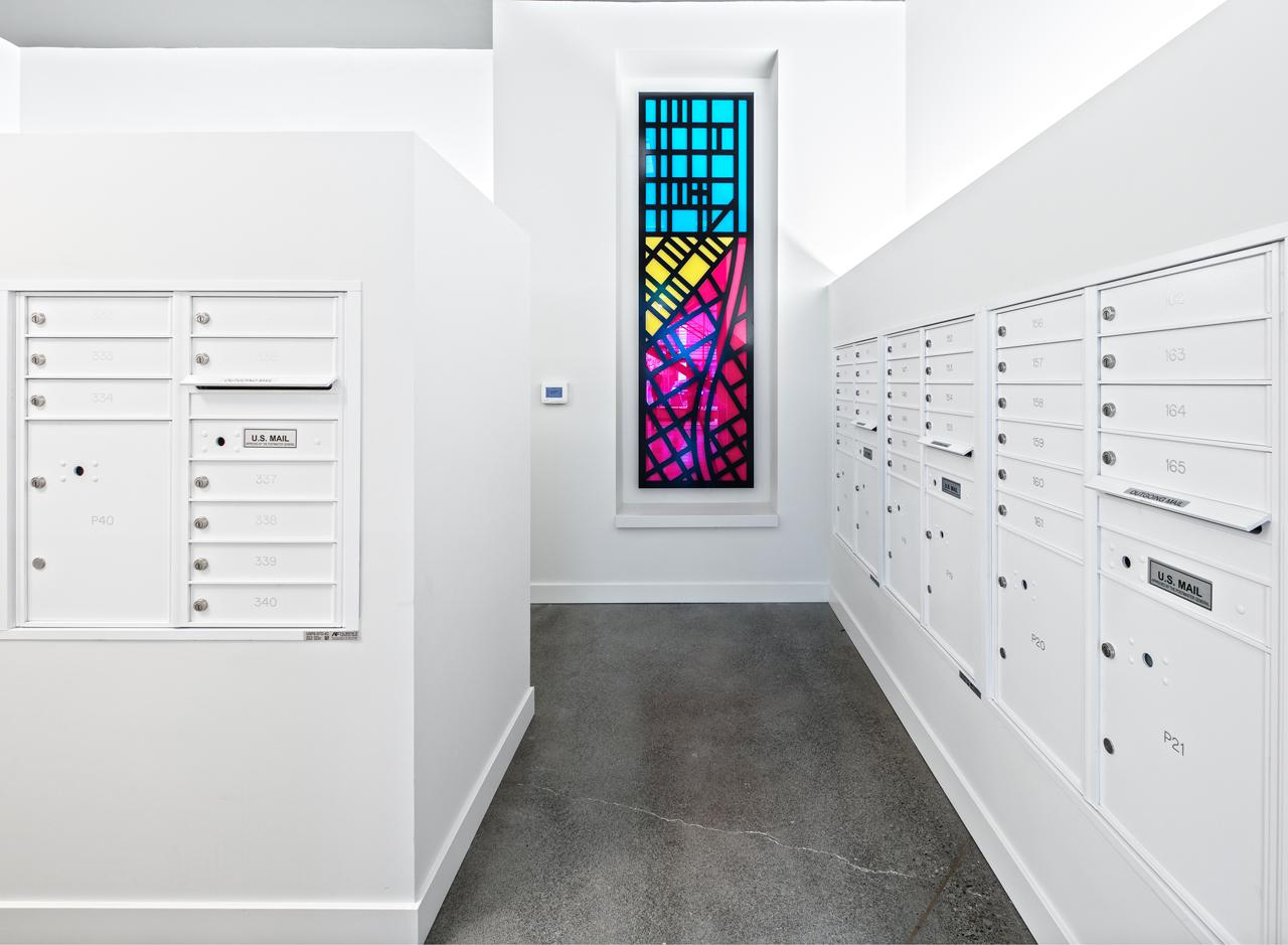 Residents can scoop up correspondence in the mailroom.<p></p>