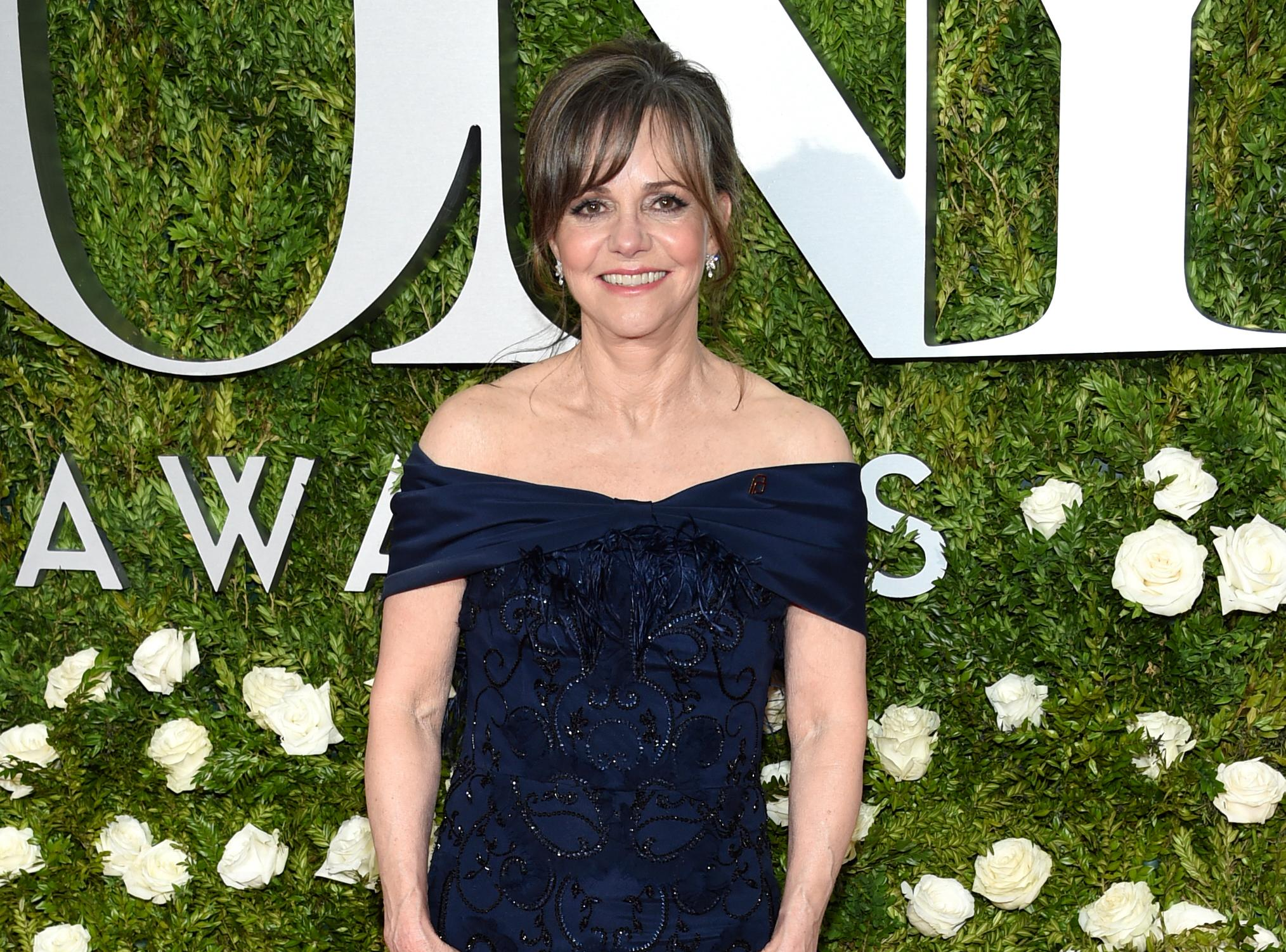 Sally Field arrives at the 71st annual Tony Awards at Radio City Music Hall on Sunday, June 11, 2017, in New York. (Photo by Evan Agostini/Invision/AP)