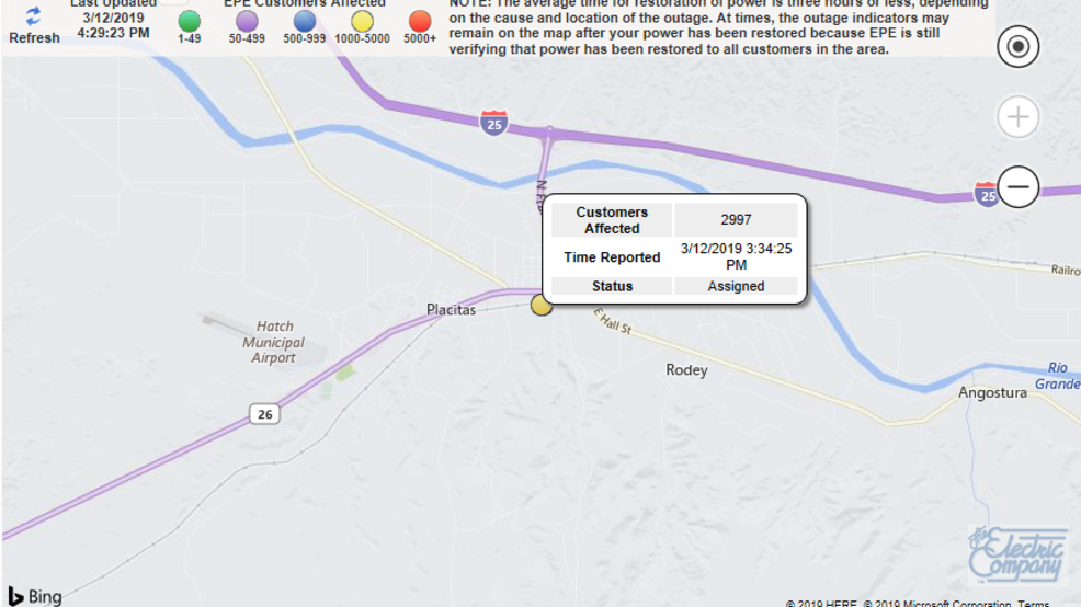Power Outage Affecting Around 3000 People In Dona Ana County Kfox