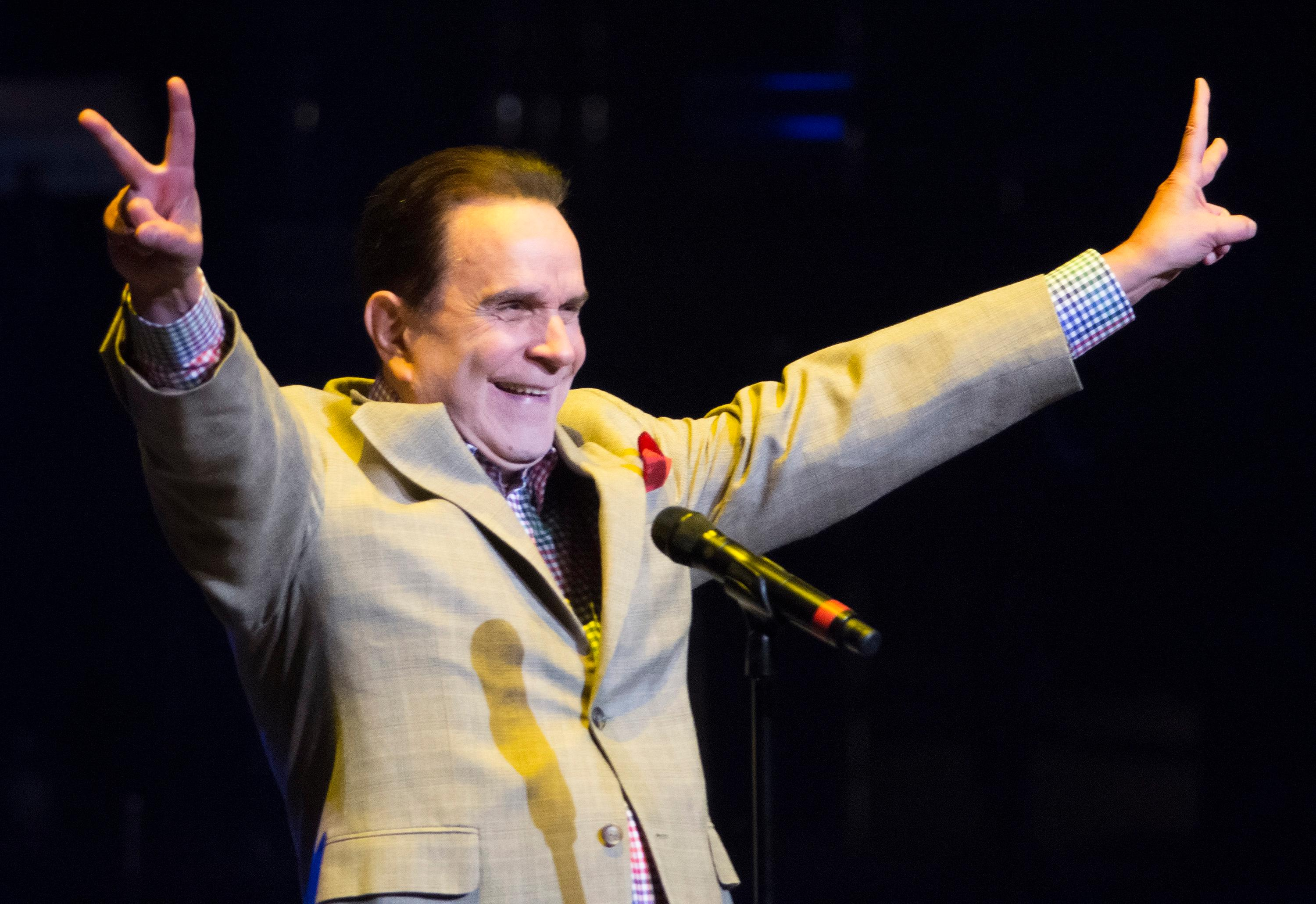 "Rich Little performs during the ""Vegas Cares"" benefit concert at the Venetian Theatre in the Venetian hotel-casino at 3355 S. Las Vegas Blvd in Las Vegas on Sunday, Nov 5, 2017. The concert was sponsored by a group of Las Vegas entertainers, producers and business professionals to honor the victims and first responders from the 1 October shooting tragedy. CREDIT: Bill Hughes/Las Vegas News Bureau"