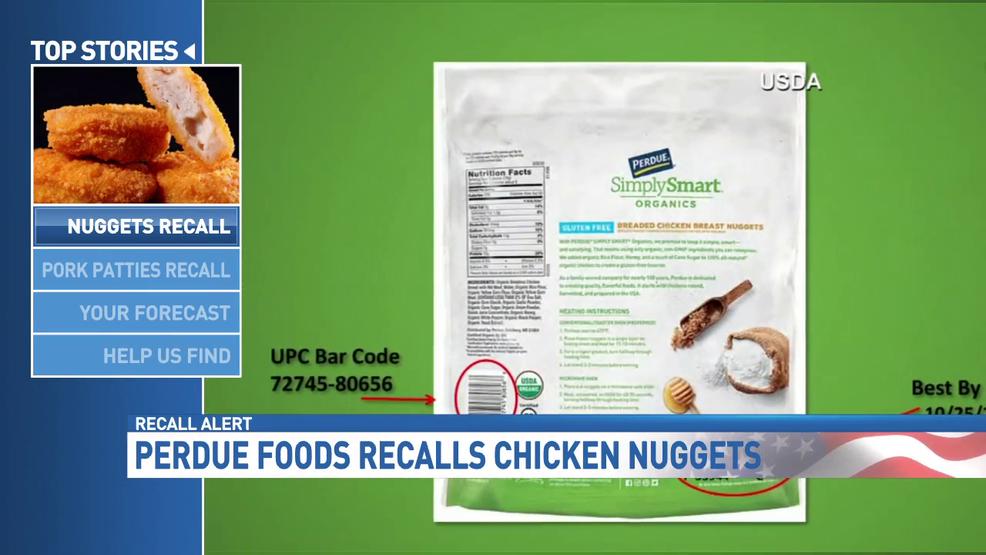 Chicken Nuggets Pork Patties Recalled Over Foreign Matter