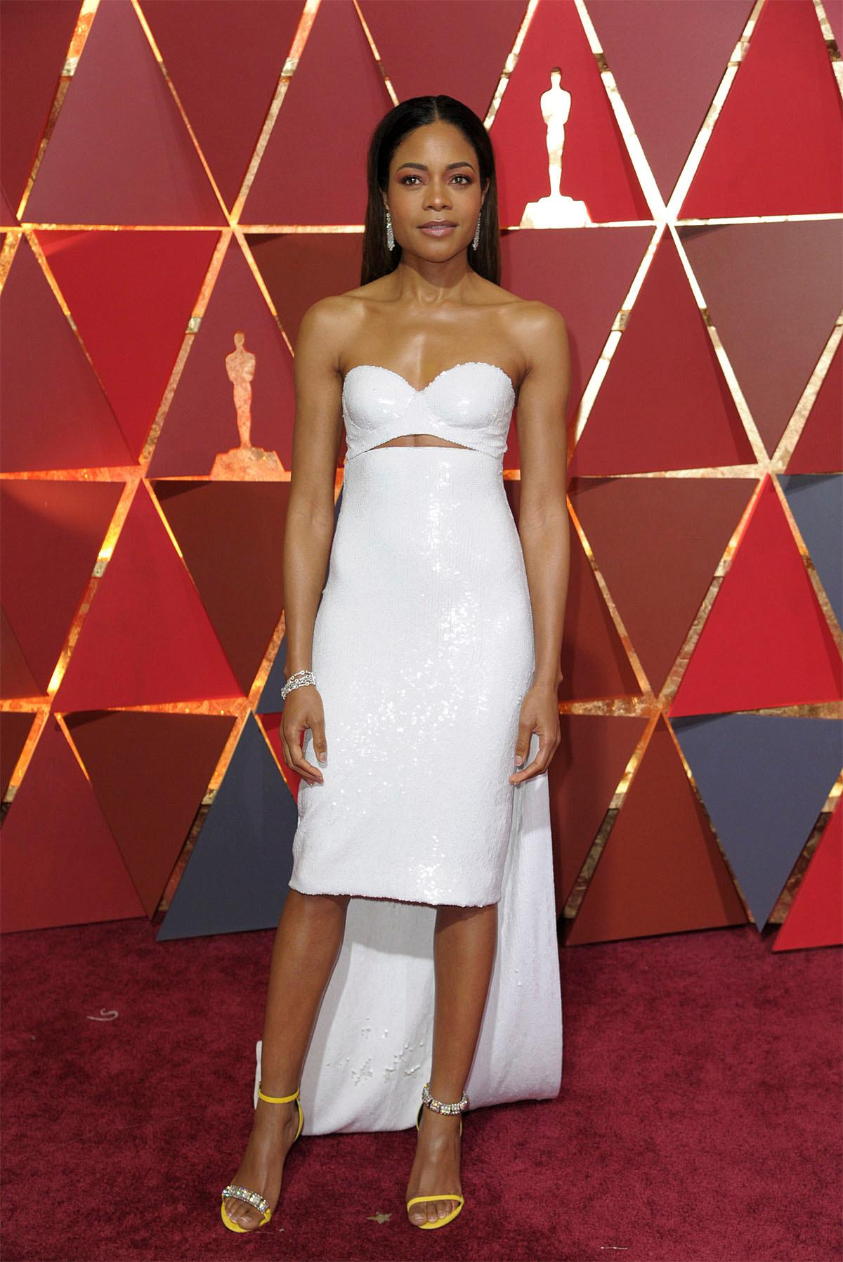 Naomie Harris arrives at the Oscars on Sunday, Feb. 26, 2017, at the Dolby Theatre in Los Angeles. (Photo by Richard Shotwell/Invision/AP)
