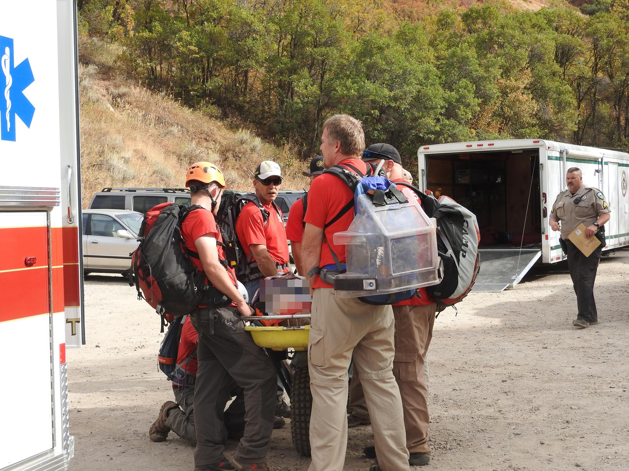 Weber County officials rescued a injured woman hiking near Causey Reservoir in Sunday morning. (Photo: Weber County Sheriff's Office Search & Rescue)