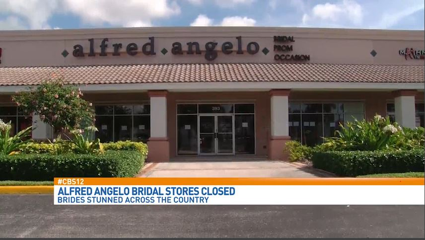 Alfred Angelo apologizes in a statement Sunday, days after closing stores and filing for bankruptcy.  (WPEC).