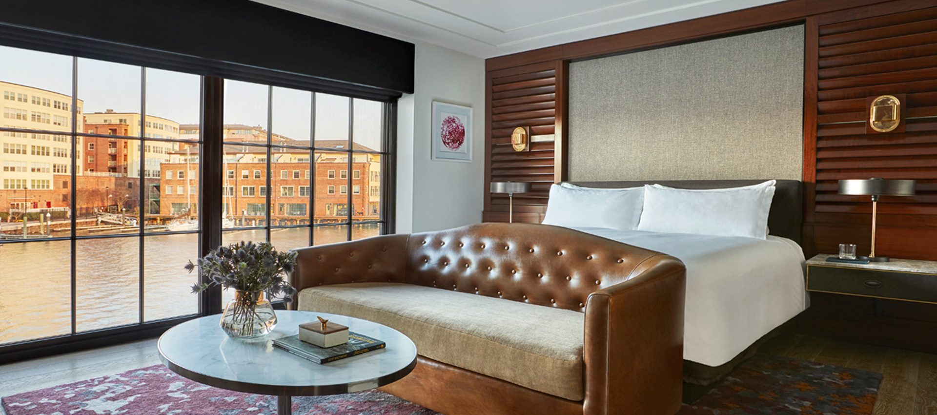You'll want to do breakfast in bed at The Sagamore Pendry in Fells Point. Each room features incredible harbor-side views. (Image: Courtesy The Sagamore Pendry Baltimore)