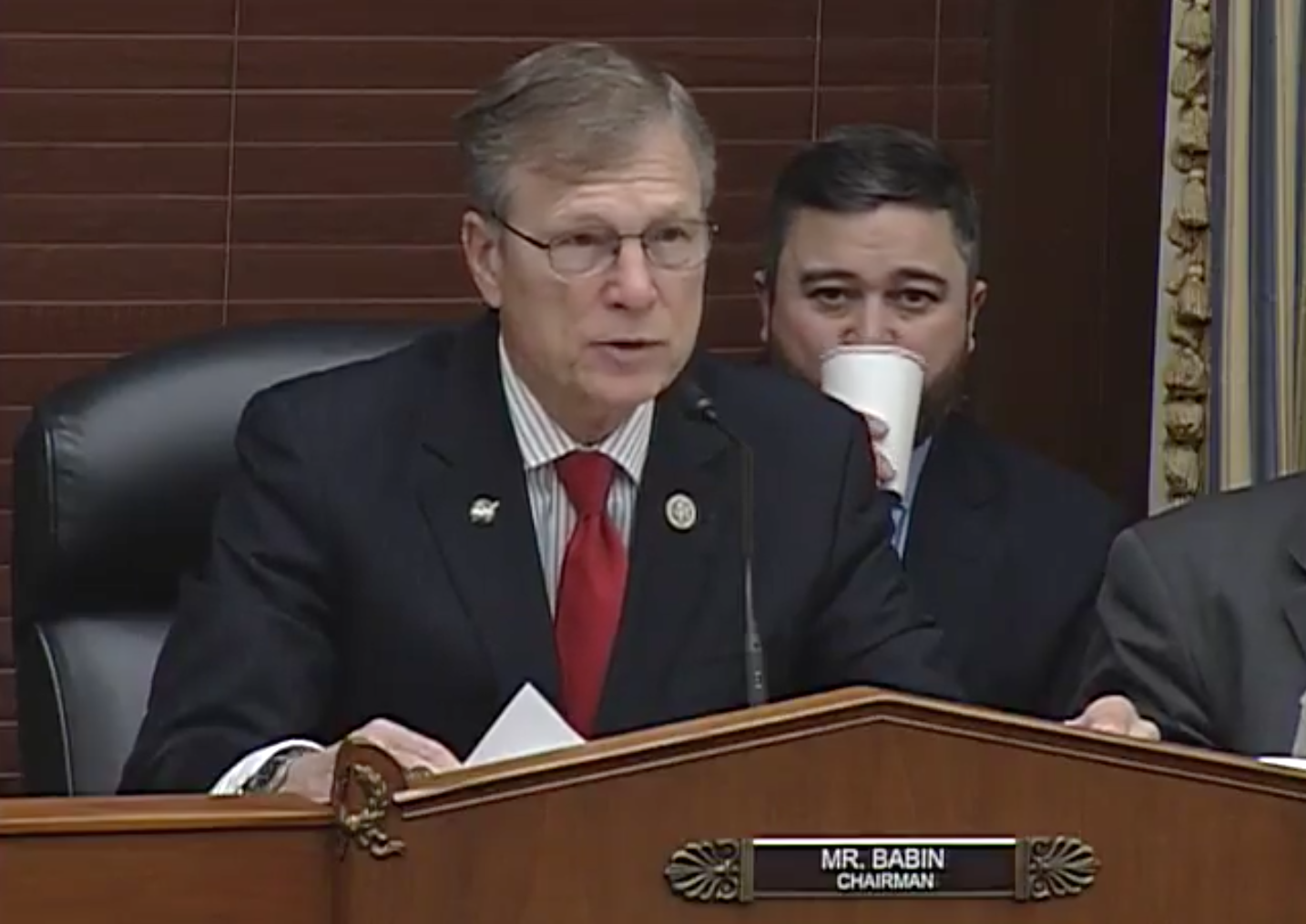Chairman of the Subcommittee on Science, Rep. Brian, Babin, R- Texas / Photo: The House Science, Space and Technology Committee's Subcommittee on Space<p></p>