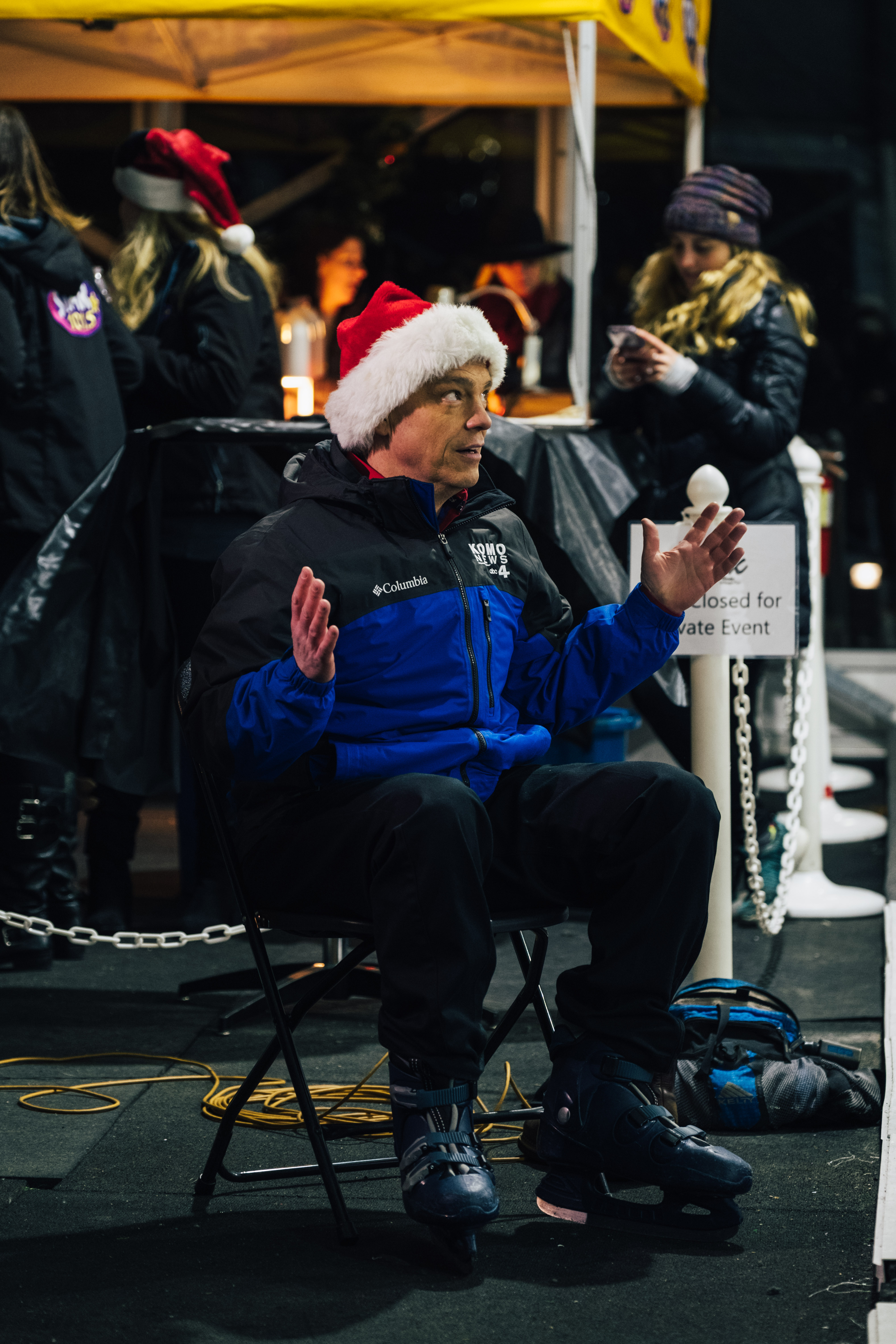 And just like that, STAR 101.5 radio is officially SANTA FM for the season! The flip happened Nov. 30 at the Ice Skating Arena at Bellevue Downtown Park, and if you tune in now through Christmas Day! (Image: Ryan McBoyle / Seattle Refined){ }