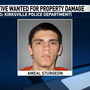 Warrant Wednesday: KPD seeks man wanted for property damage