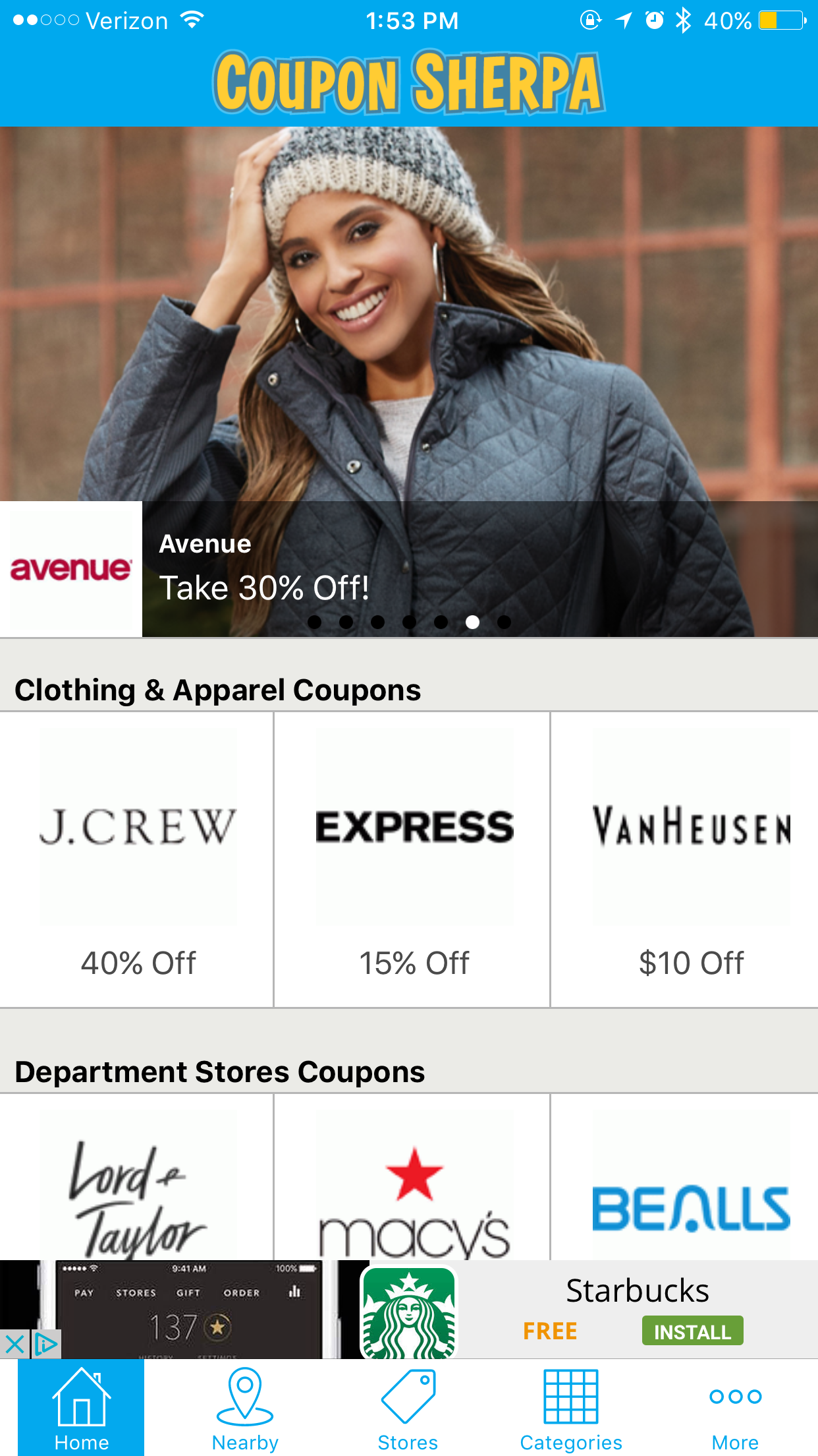 Coupon Sherpa is here to change up your shopping experience with access to thousands of in-store, local and online coupons for your favorite shops and restaurants. (Screenshot from Coupon Sherpa App)