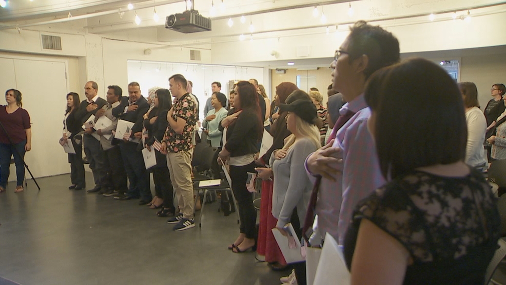 Naturalization ceremony welcomes 15 new U S  citizens in