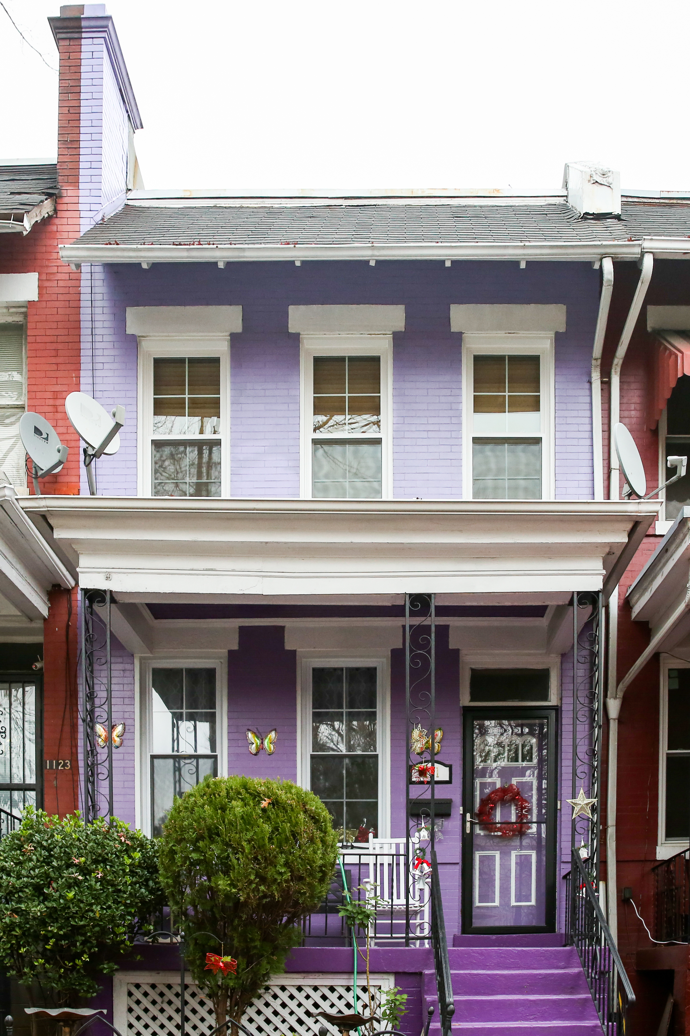 Pantone's color of the year was Ultra Violet, but these homeowners were ahead of the curve. (Amanda Andrade-Rhoades/DC Refined)