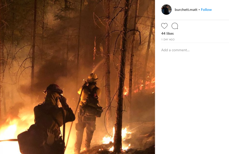 Draper Battalion Chief Matthew Burchett was killed while battling the Mendocino Complex Fire in Northern California. (Photo courtesy of Matt Burchett's Instagram)