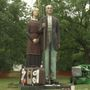Anamosa welcomes three-story sculpture inspired by Grant Wood