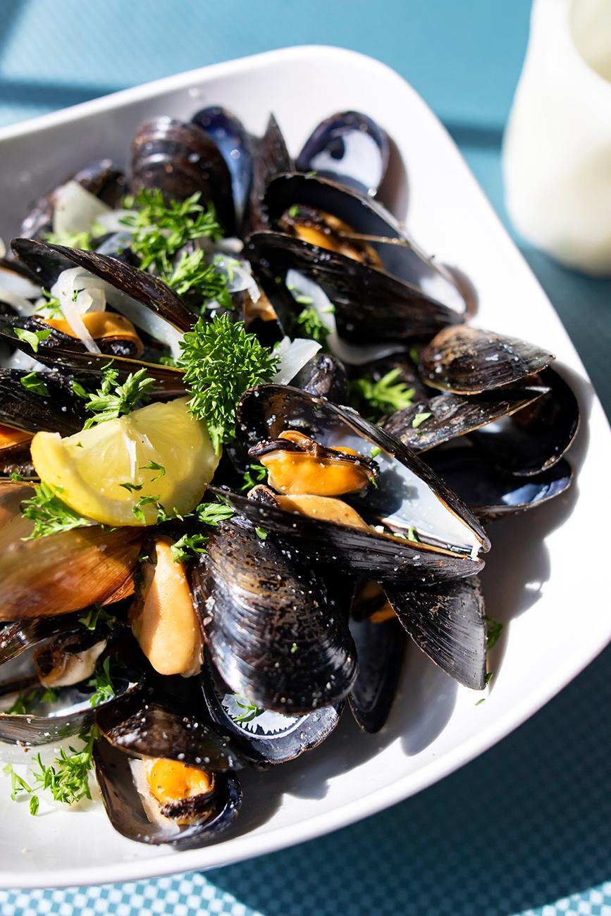 <p>Mussels: steamed with onions, white wine, and cream. / Image: Allison McAdams // Published: 8.19.19</p>