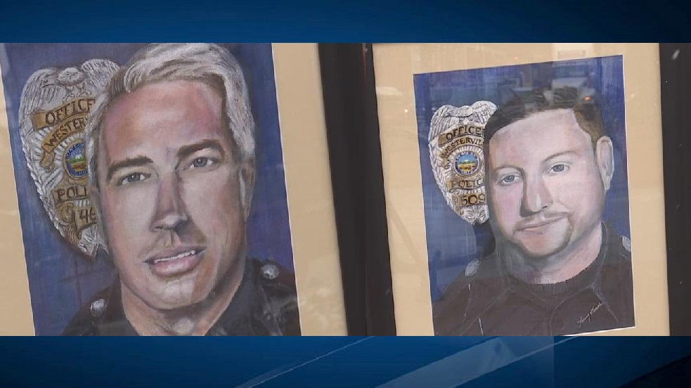 <p>A Morrow County woman said she feels compelled to paint portraits of slain Central Ohio police officers. (WSYX/WTTE)</p>