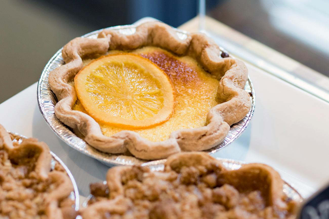 Orange-buttermilk chess pie / Image: Allison McAdams // Published: 2.7.19