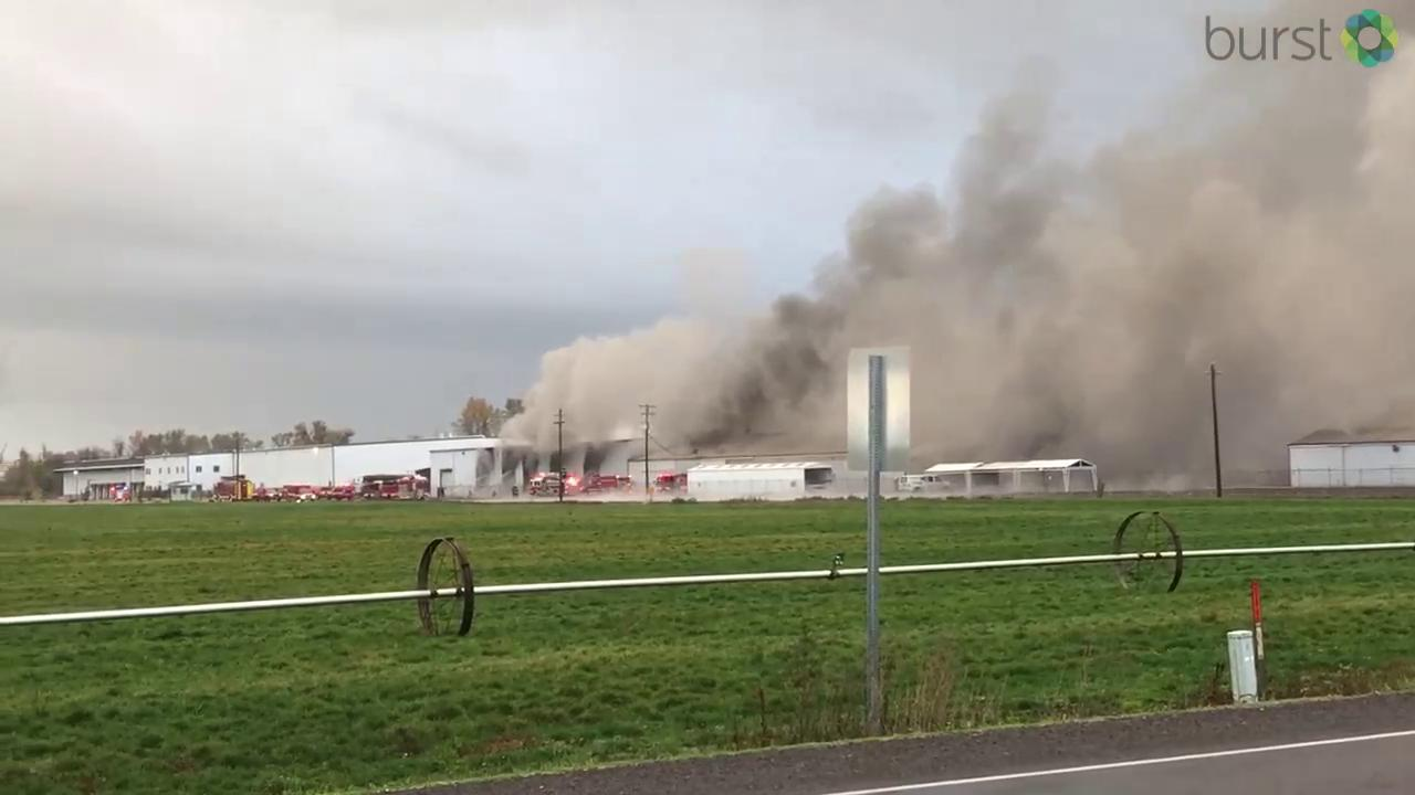 Eyewitness Kelly Sayles shared this video. Sayles says the fire is at Premiere RV.{&amp;nbsp;}<p></p>Thumbnail