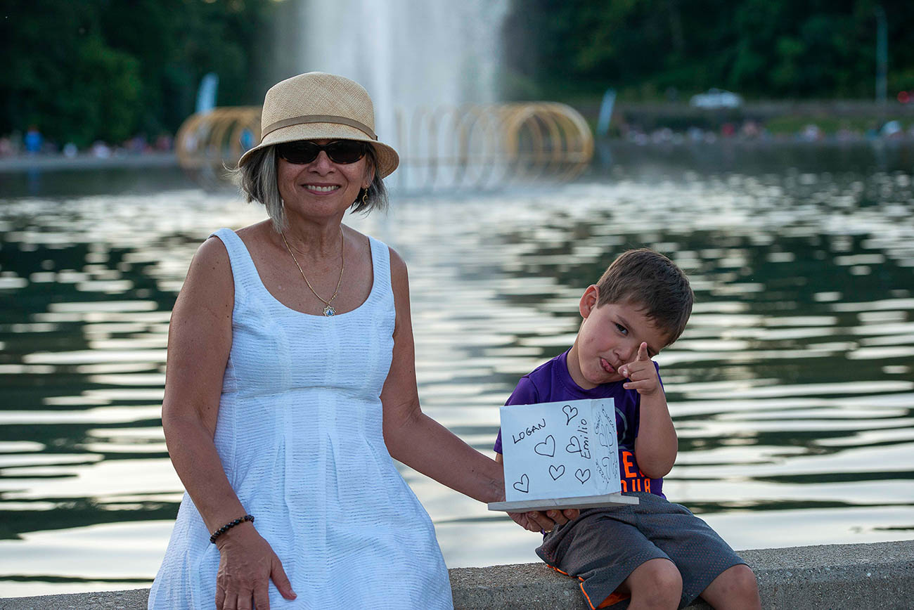 Catalina Landivar with her grandson Logan Rojas{ }/ Image: Joe Simon // Published: 7.14.19