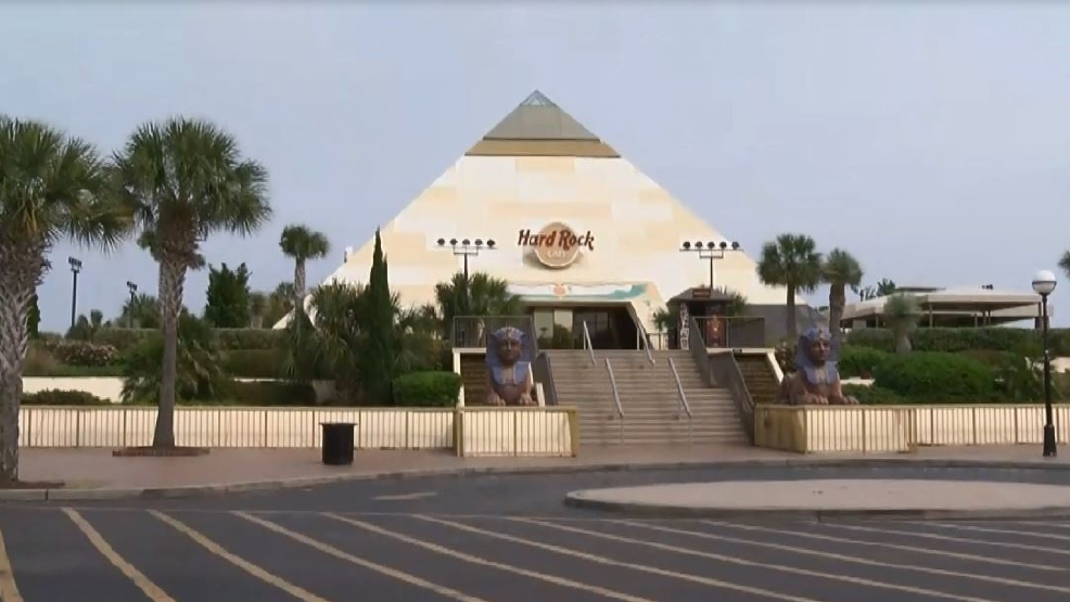 The Hard Rock Cafe Pyramid At Broadway Beach That Could Soon Be Demolished To Make Way For A Dave And Busters Restaurant WPDE