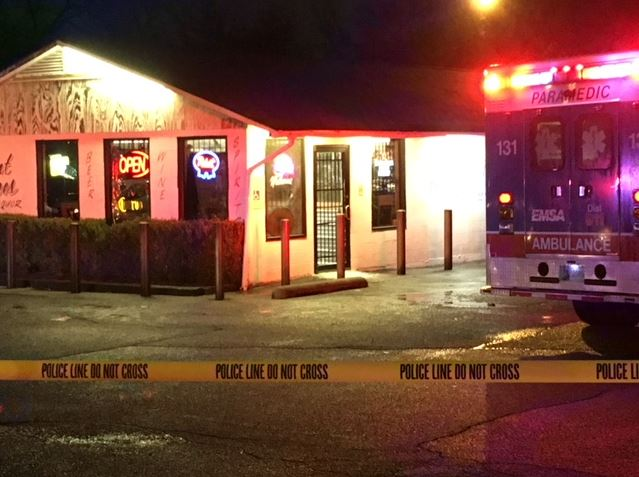 <p>Tulsa Police is investigating after a suspect was shot while attempting to rob Forest Acres Liquor store near 13th and Memorial Thursday evening. (KTUL)</p>