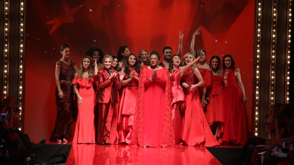 Celebs go red for American Heart Association runway show