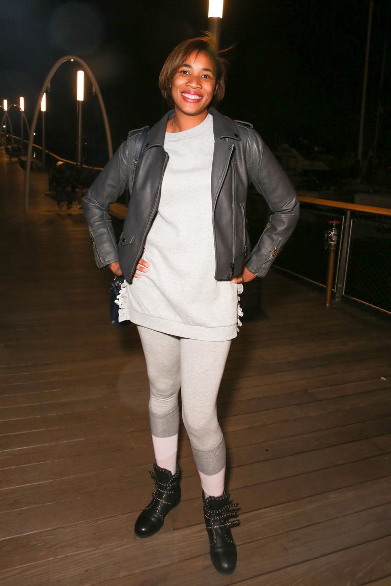 Sherise Perry's grey leggings are ultra street-wear.{&amp;nbsp;}(Amanda Andrade-Rhoades/DC Refined)<p></p>
