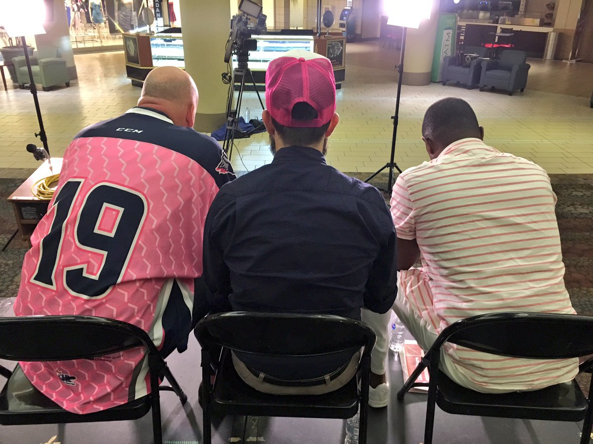 Three of the men came on the morning show before being revealed. (Photo: Courtney Wheaton.)