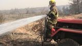 2 Big County grass fires threaten 8 homes, burn one