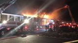 Crews battle large fire at Bellevue apartment complex
