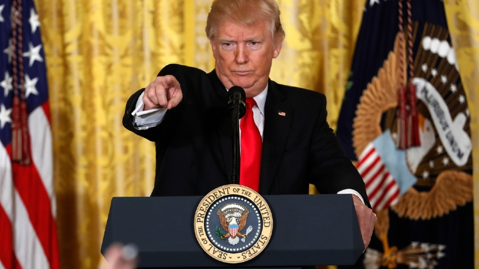 President Donald Trump calls on a reporter during a news conference, Thursday, Feb. 16, 2017, in the East Room of the White House in Washington. (AP Photo/Pablo Martinez Monsivais)