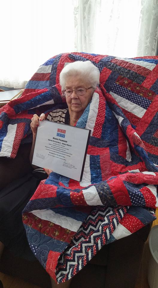The nonprofit &quot;Quilts of Valor&quot; awards quilts to veterans to thank them for their service, and provide some comfort (Courtesy:  Quilts of Valor)<p></p>