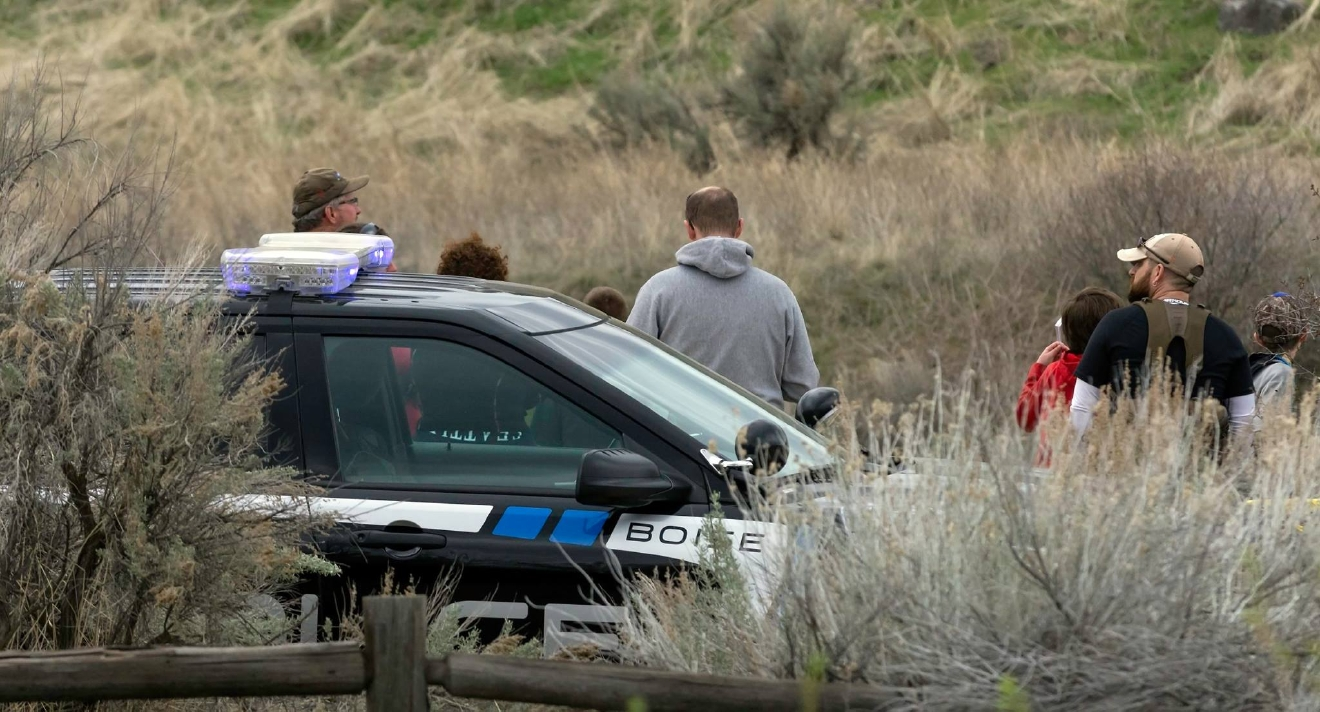 Boise Police involved in shooting near Hulls Gulch Saturday. (Courtesy Mark Goforth)