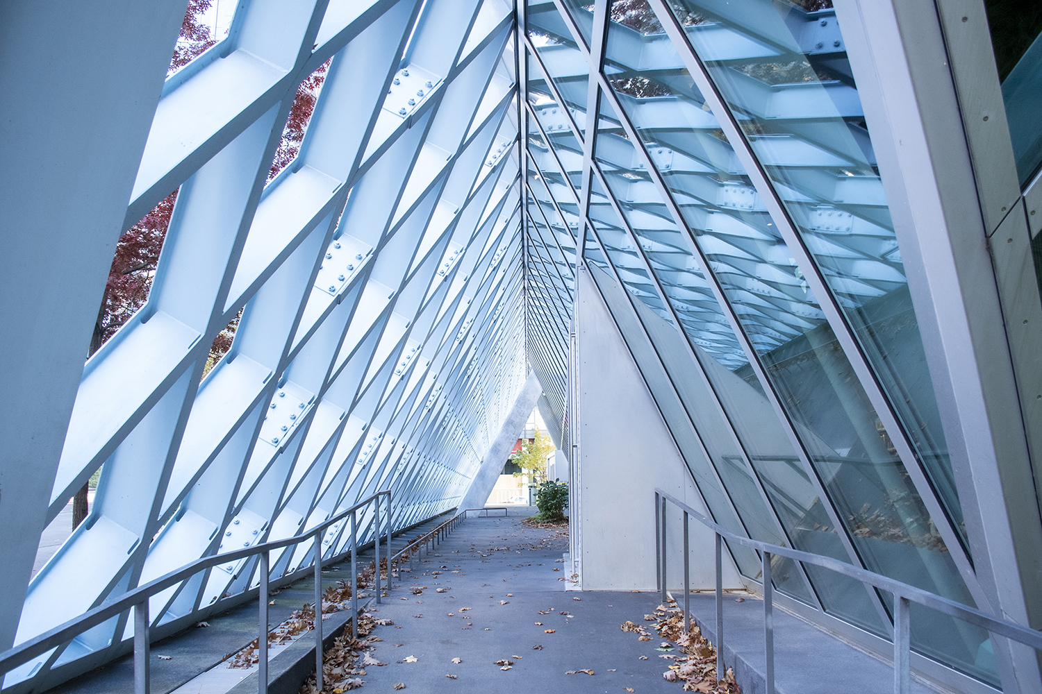 <p>Enter a portal to another world at the Seattle Central Library, the flagship to the Seattle library system and possibly also the coolest looking. Opened to eager readers in 2004, the building's design consists of 11-stories constructed from glass and steel. (Image: Rachael Jones / Seattle Refined)</p>