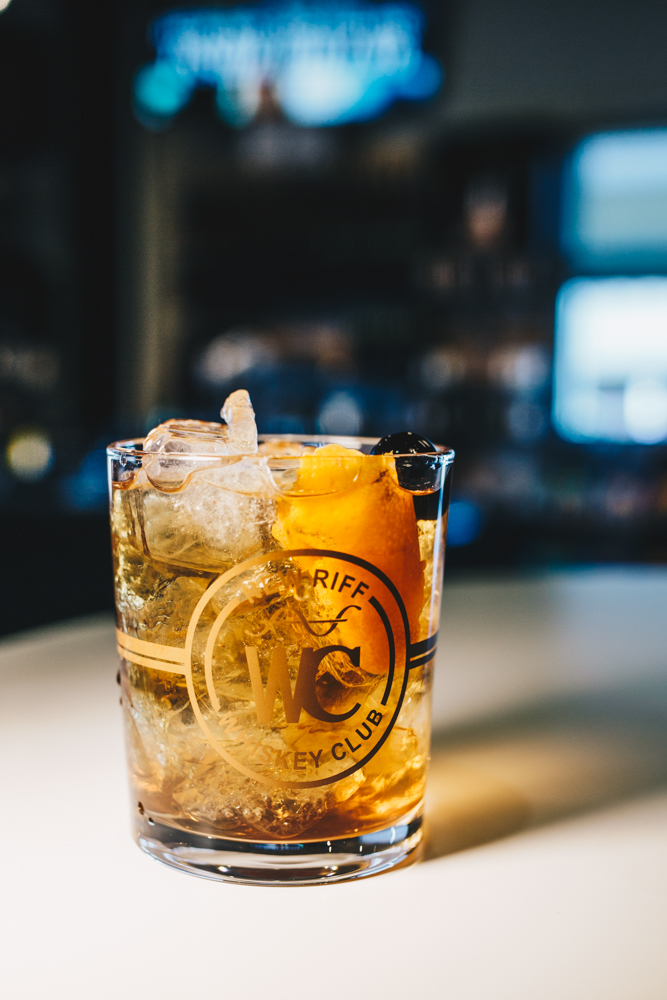 <p>New Fashioned: New Riff Bourbon or Rye, orange bitters, Demerara simple syrup, and garnished with orange peel and luxardo cherry / Image: Catherine Viox // Published: 3.25.19</p>