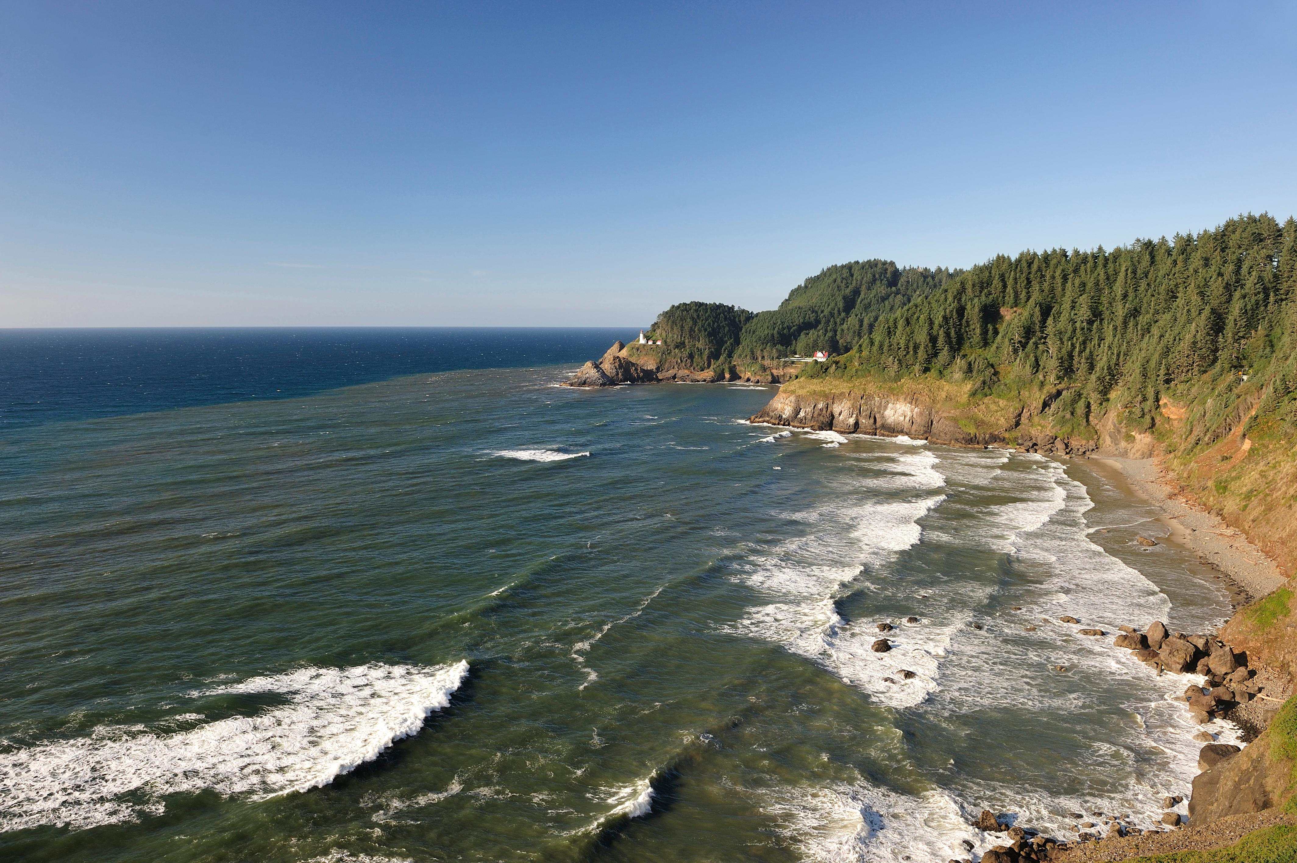 View from Sea Lions Cave. Heceta Head Lighthouse. (Photo: Christian Heeb, courtesy of Travel Oregon)