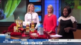 Kelly Springer with foods to improve heart health