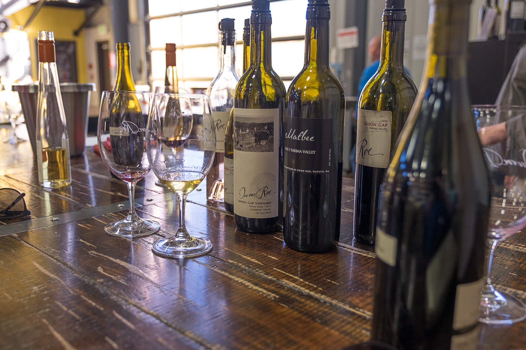 The messy aftermath of tasting at Owen Roe Winery (Image: Paola Thomas/Seattle Refined)