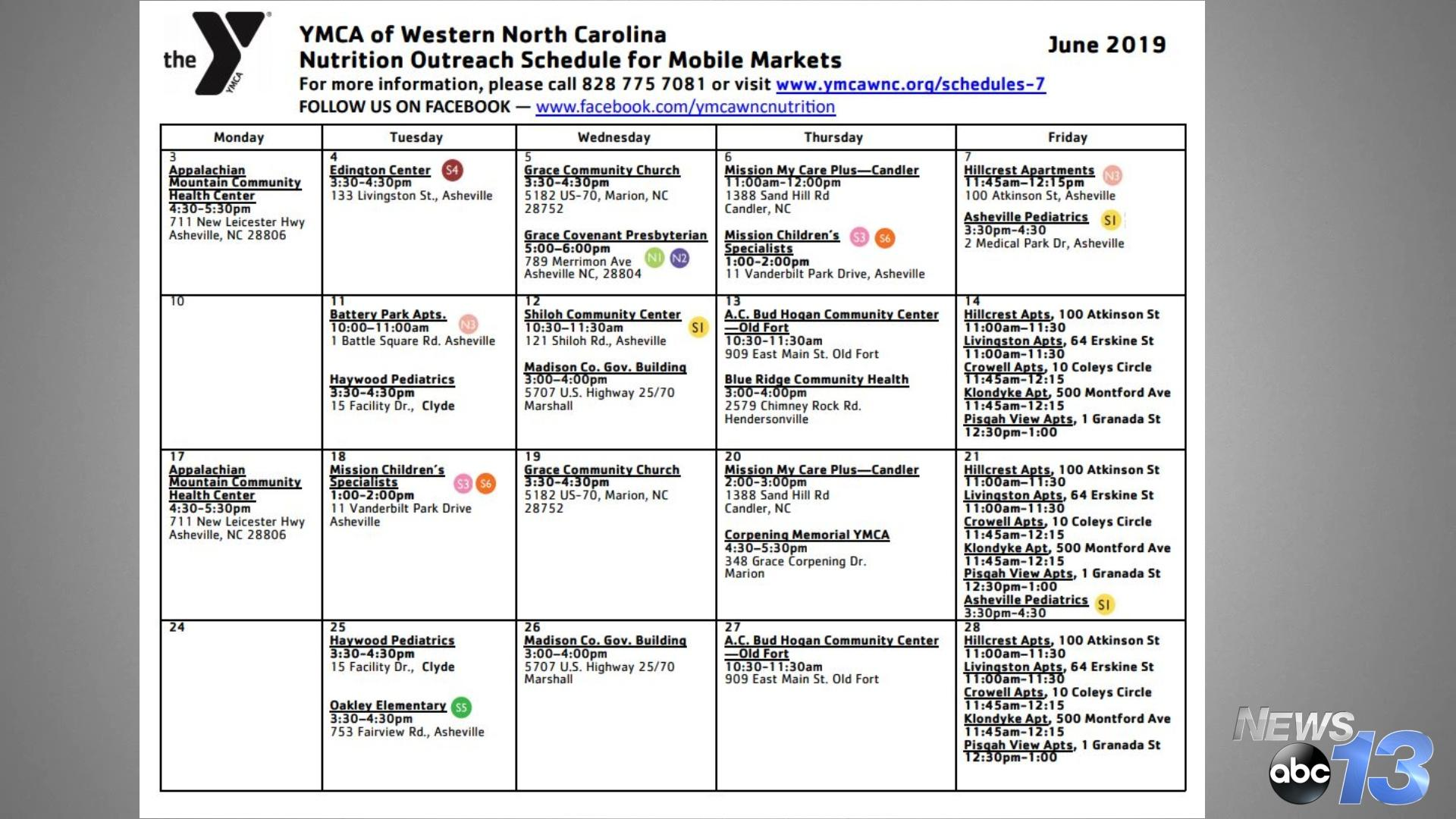 Here's a list of June Market Events. (Photo Credit: WLOS Staff)<p><br></p>