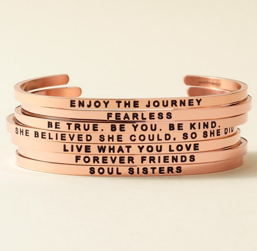 MantraBand 'She Believed She Could' Cuff ($25.00–$35.00). Find on nordstrom.com. (Image: Nordstrom)