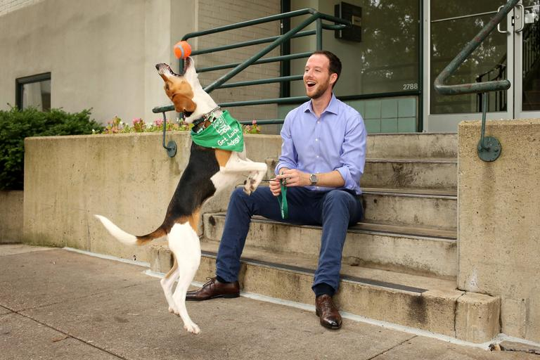 Mike is a 31-year-old economist who loves photography, the outdoors, music, history, and travel. // Harvest is a 1-year-old beagle mix who needs to go to a home with a dog friend. She is available for adoption through Lucky Dog Animal Rescue. (Amanda Andrade-Rhoades/DC Refined)