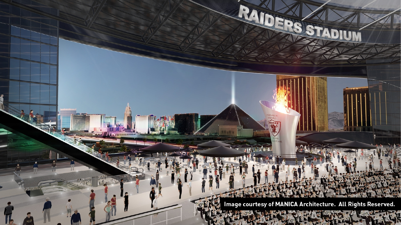 Raiders stadium mock-up image (MANICA Architecture)