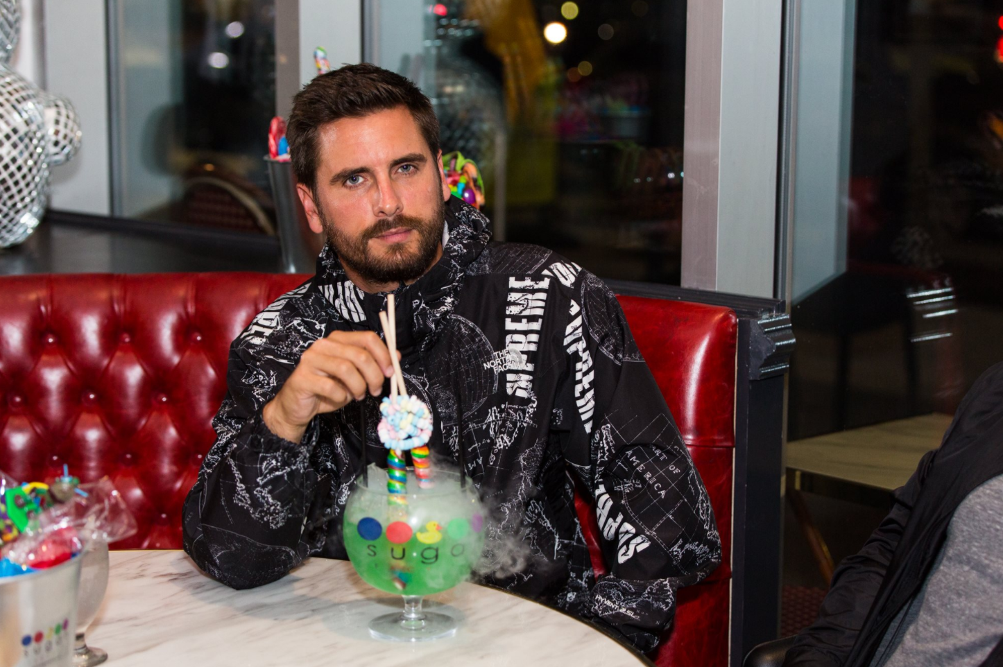 Disick enjoys a Lollipop Passion Goblet at Sugar Factory. (Image: John Robinson)