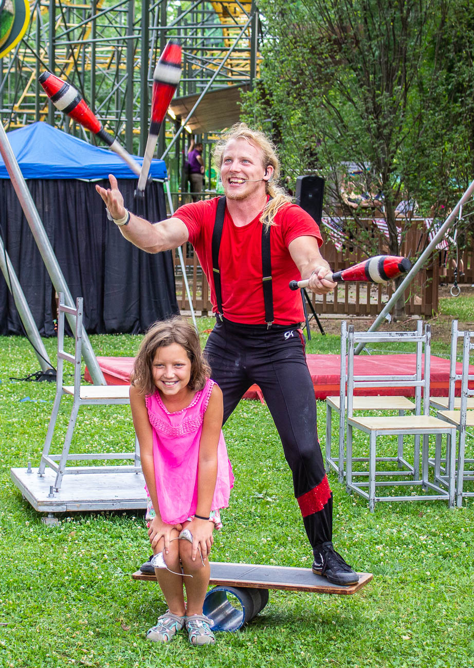 The Cincinnati Circus Stunt Show had five performances throughout the day, performing acrobatic feats and risky tricks that kept viewers on the edge of their seats. / Image: Katie Robinson, Cincinnati Refined // Published: 7.4.19